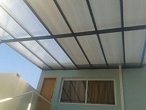 nova cobertura garagem policarbonato