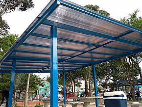 Cobertura Policarbonato Praça Publica