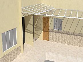 Projeto Cobertura Corredor residencial