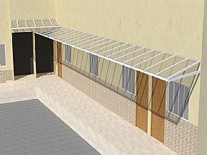 Projeto Cobertura policarbonato Condominio