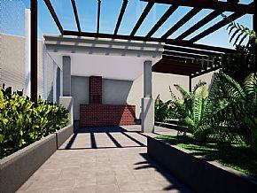 projeto cobertura area churrasqueira
