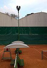 Cobertura policarbonato banco parque