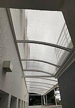 cobertura policarbonato transparente vista de baixo