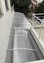 cobertura policarbonato transparente vista de cima