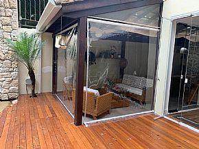 cortinas retráteis transparentes deck sala