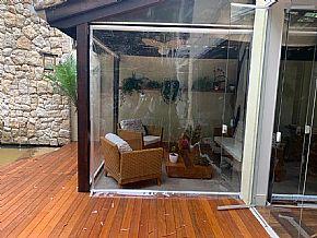 cortina retrátil transparente deck sala
